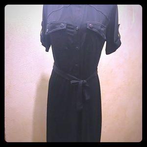 Black nylon dress
